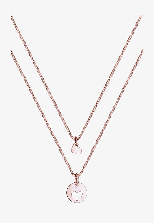 SET HERZ MUTTER KIND LIEBE  - Collana - roségold-coloured