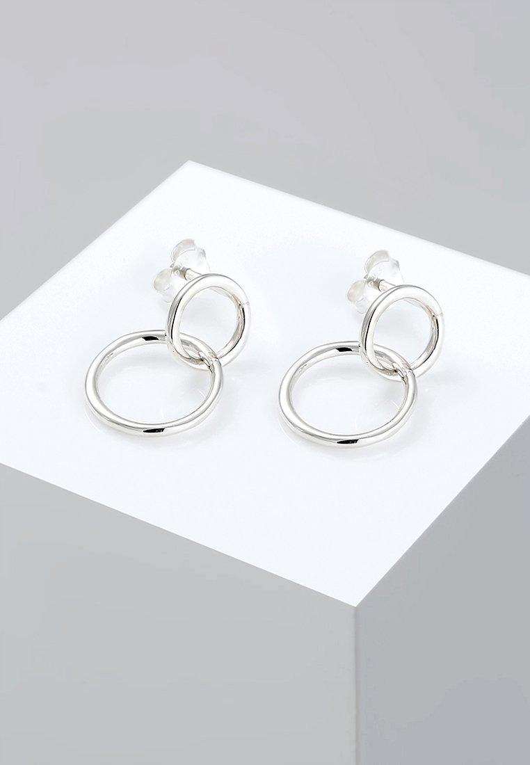 Elli - KREIS GEO BASIC MINIMAL LAYER  - Boucles d'oreilles - silver-coloured