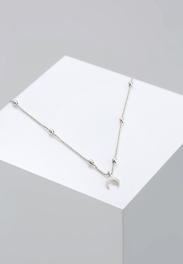 CHOKER ASTRO KUGEL HALBMOND  - Ketting - silver-coloured