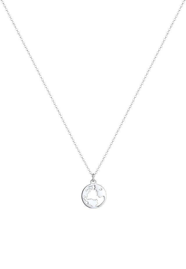 Weltkugel Globus - Halskette - silver-coloured