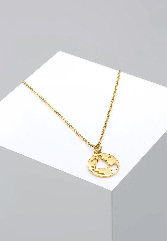 Weltkugel Globus - Naszyjnik - gold-coloured
