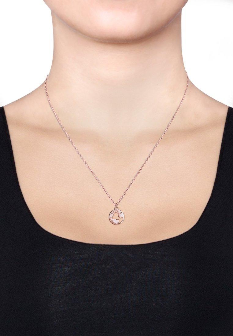 Elli - Weltkugel Globus - Necklace - roségold-coloured