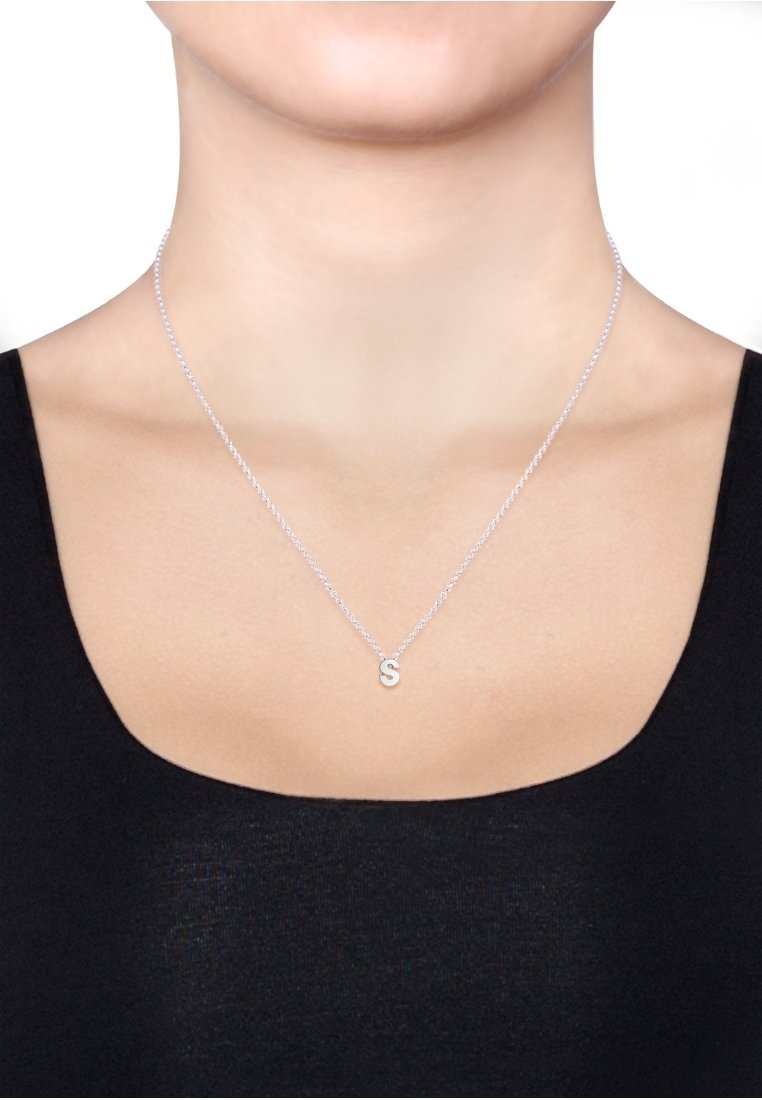 Elli - BUCHSTABE S INITIALEN  - Necklace - silver-coloured