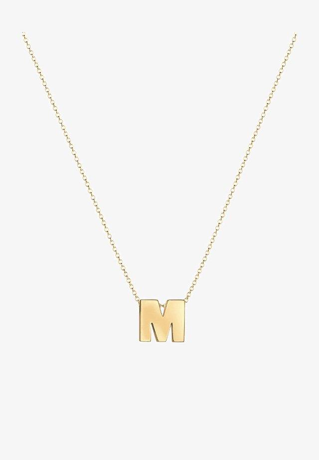 BUCHSTABE M INITIALEN  - Halskette - gold-coloured