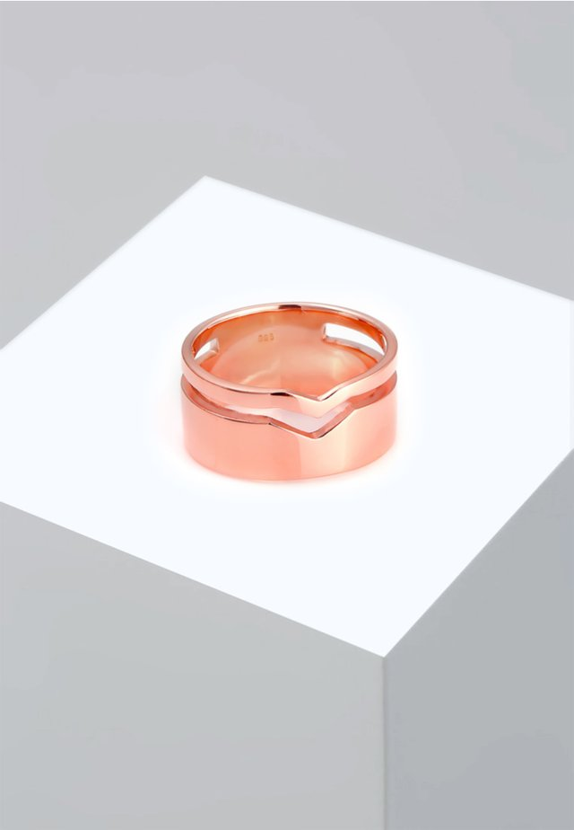 GEO CUT-OUT BASIC TREND - Bague - pink gold