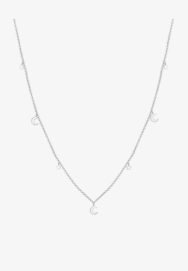 STERNE ASTRO HALBMOND TREND  - Halsband - silver
