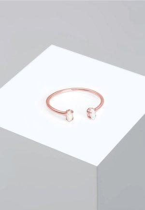 OVAL GEO OPAL OFFEN VERSTELLBAR - Ring - pink gold