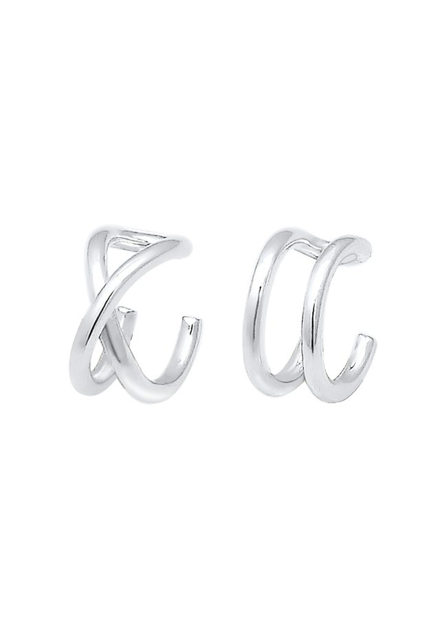 EARCUFF SET GEO BASIC MINIMAL PASOTA - Earrings - silver
