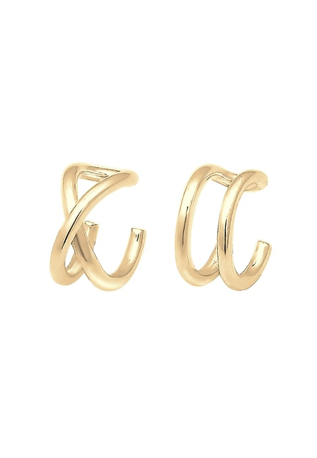 EARCUFF SET GEO BASIC MINIMAL PASOTA - Earrings - gold-coloured