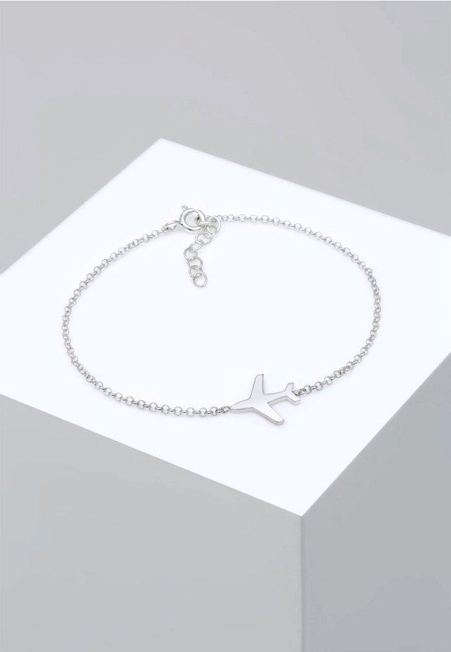 FLUGZEUG - Armband - silver coloured