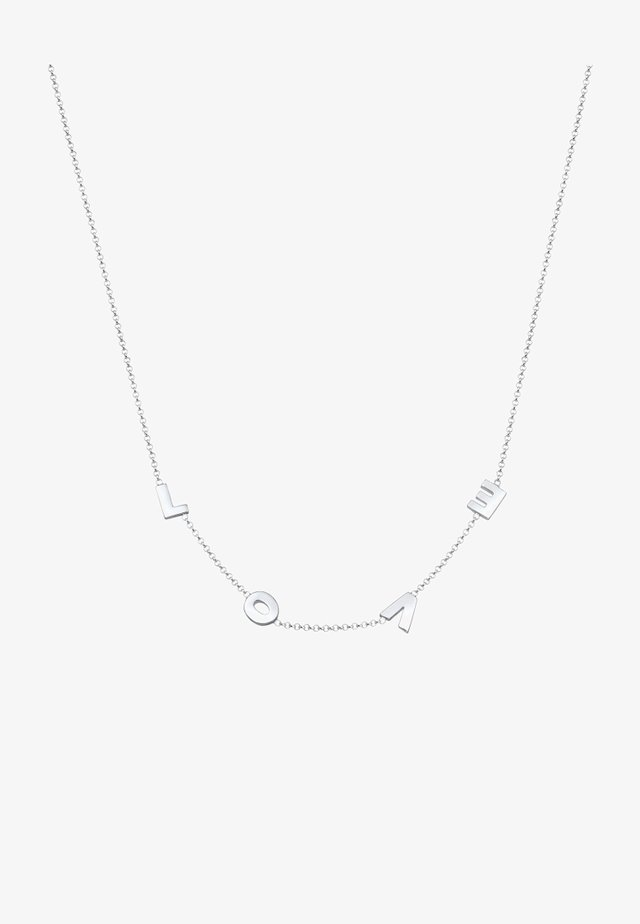 LOVE WORDING - Halsband - silver-coloured