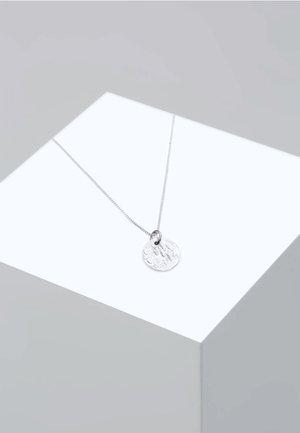 PLÄTTCHEN BOX CHAIN VINTAGE ANTIQUE - Necklace - silver-coloured