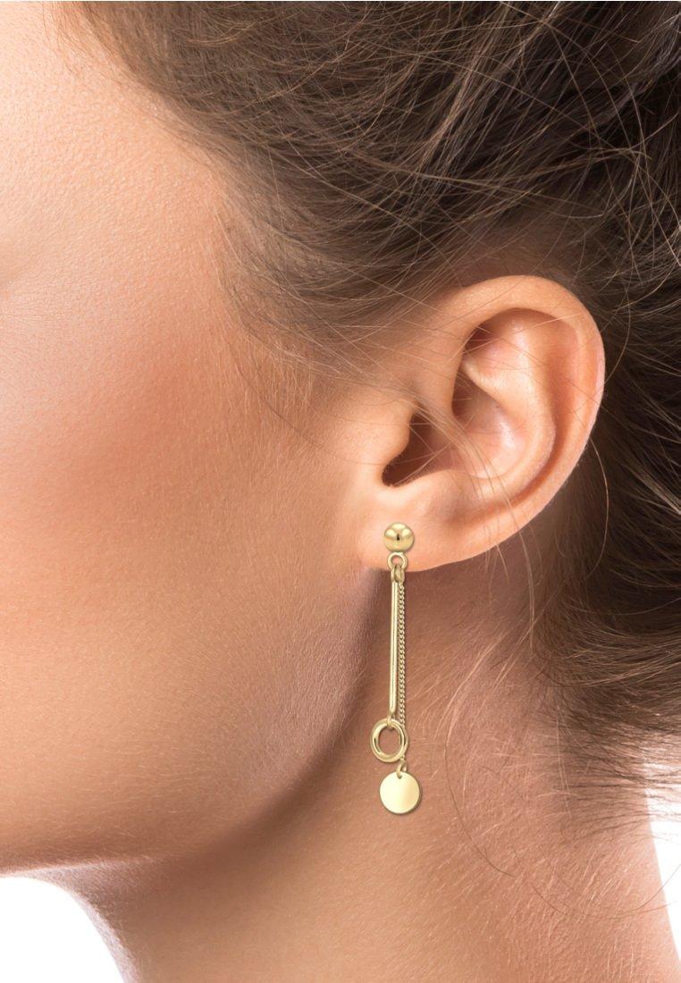 Elli - STECKER KREIS STAB GEO BASIC - Earrings - gold-coloured