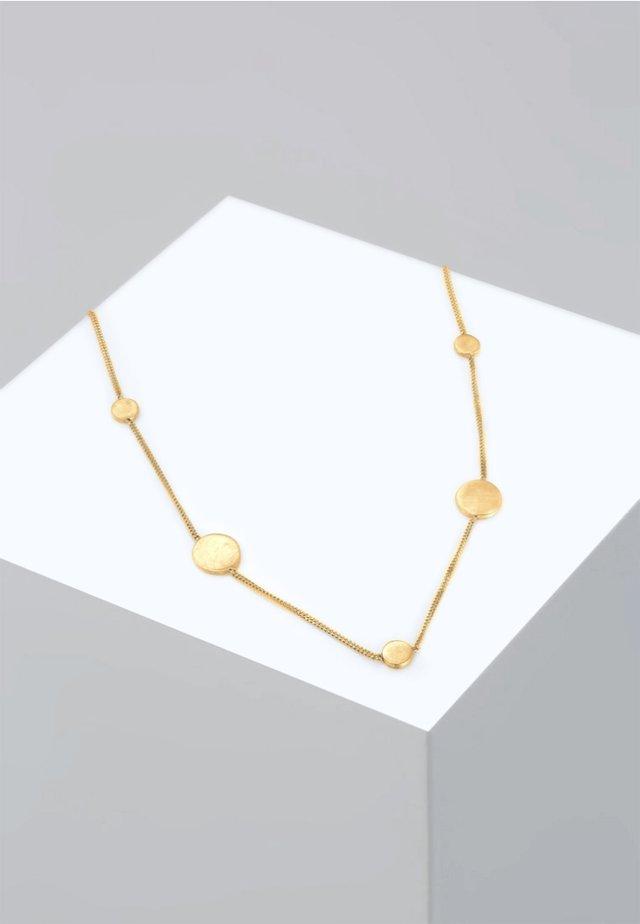 PANZERKETTE KREIS PLÄTTCHEN GEO MATT - Halsband - gold