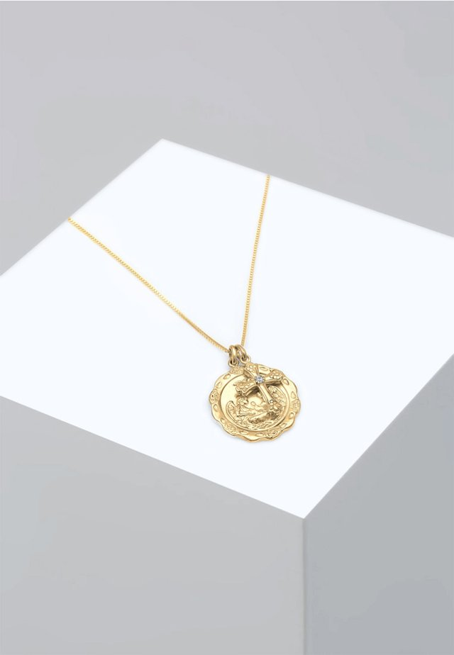 BOX CHAIN ANTIK VINTAGE KREUZ - Necklace - gold