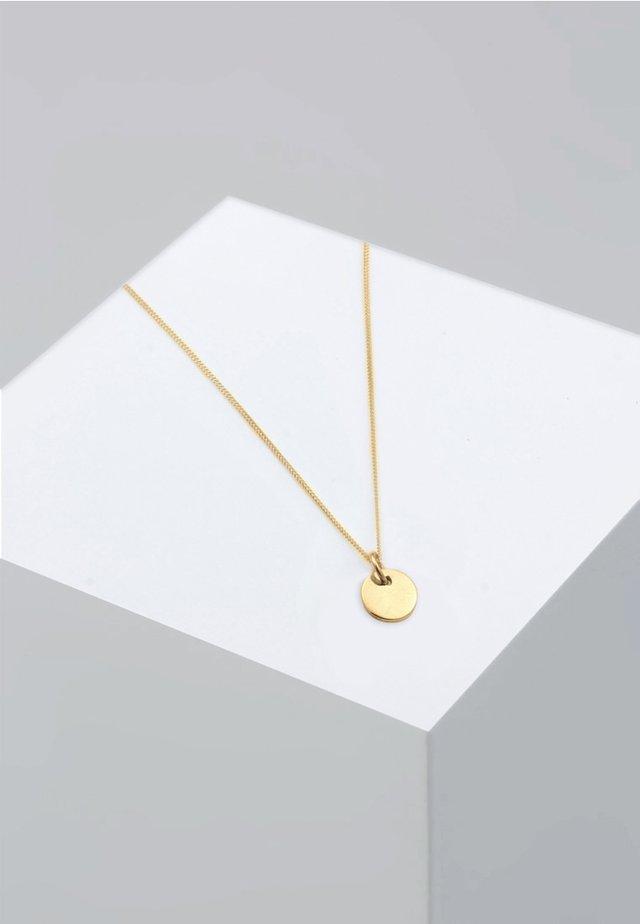 PLÄTTCHEN KREIS GEO BASIC - Naszyjnik - gold-coloured