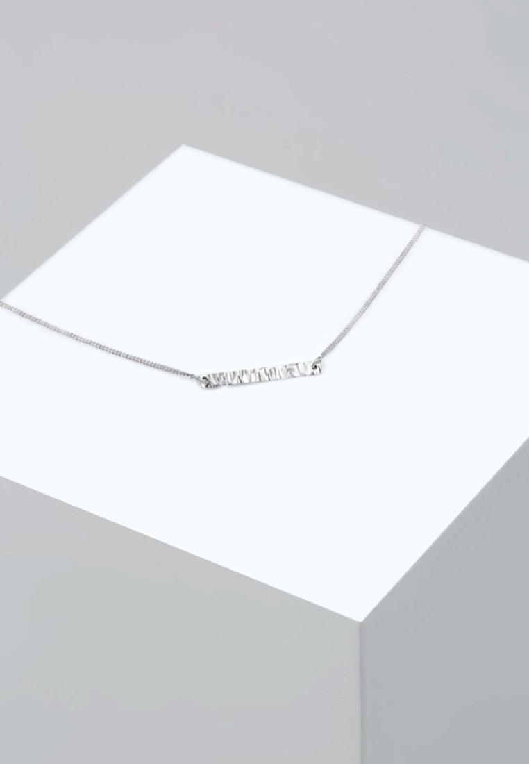 Elli - CHOKER BASIC GEO BLOGGER GEHÄMMERT - Collier - silver