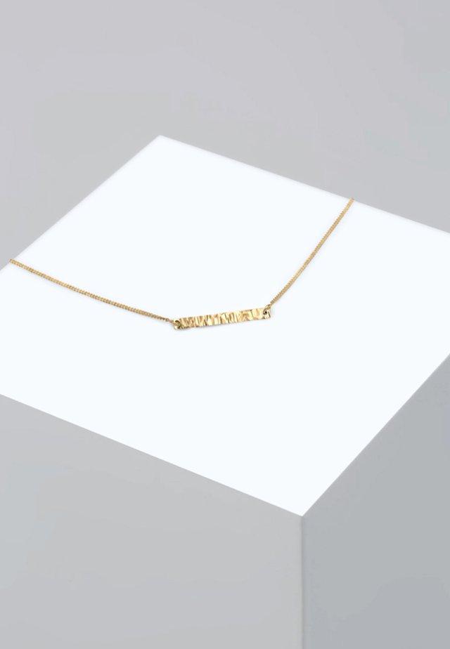 CHOKER BASIC GEO BLOGGER GEHÄMMERT - Halsband - gold-coloured