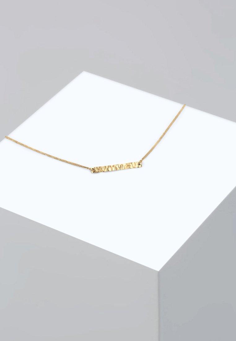 Elli - CHOKER BASIC GEO BLOGGER GEHÄMMERT - Collier - gold-coloured