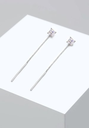 GEO KUGEL MINIMAL - Oorbellen - silver-coloured
