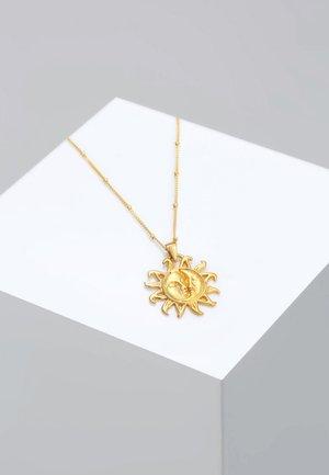 KUGELKETTE SONNE MOND VINTAGE TREND - Ketting - gold-coloured