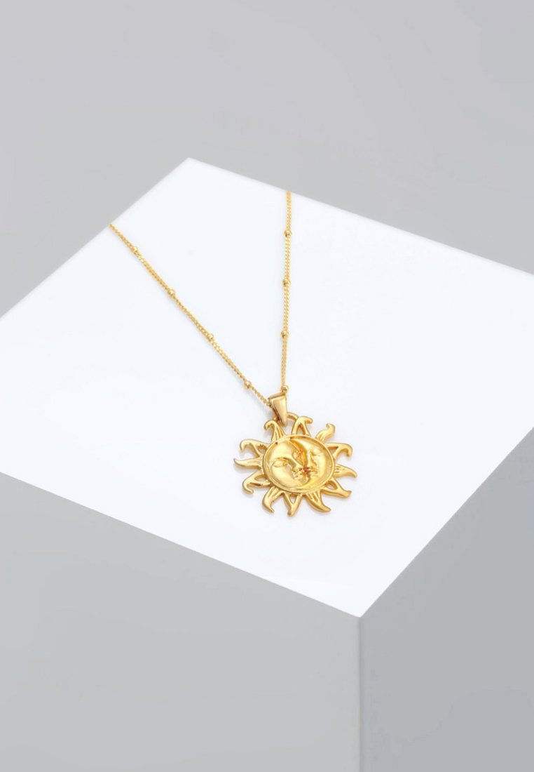 Elli - KUGELKETTE SONNE MOND VINTAGE TREND - Collier - gold-coloured