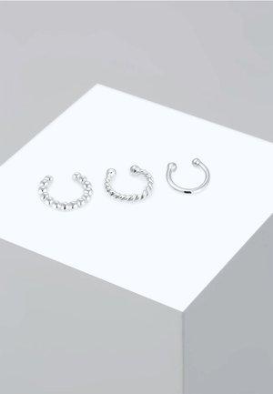 SET EARCUFFS TWISTED - Ohrringe - silver