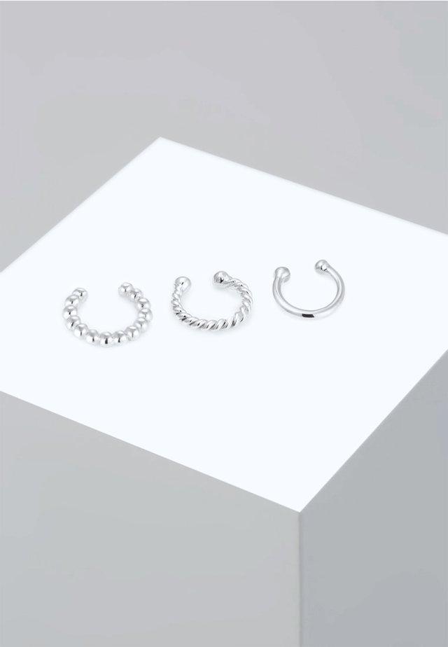 SET EARCUFFS TWISTED - Earrings - silver