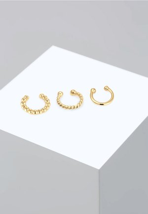 SET EARCUFFS TWISTED - Oorbellen - gold-coloured