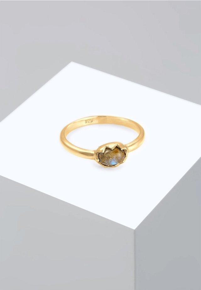RING VINTAGE LABRADORIT EDELSTEIN  - Pierścionek - gold-coloured