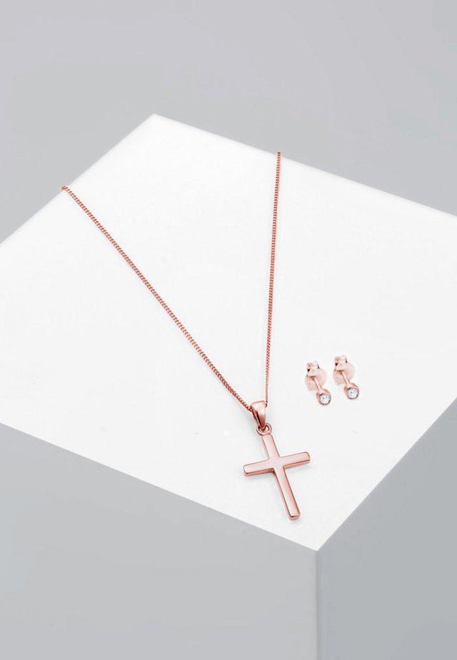2 PACK - Earrings - rose gold-coloured