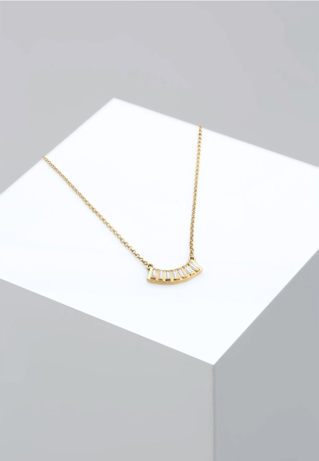 LAYER RECHTECK GEO TOPAS  - Ketting - gold-coloured