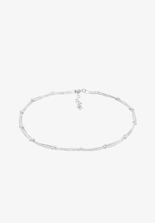 FUSSSCHMUCK KUGELKETTE  - Bracelet - silver-coloured