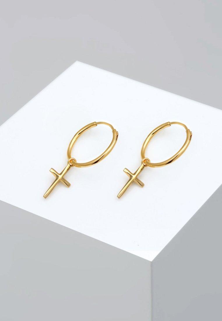 Elli - CREOLEN HÄNGER - Earrings - gold-coloured