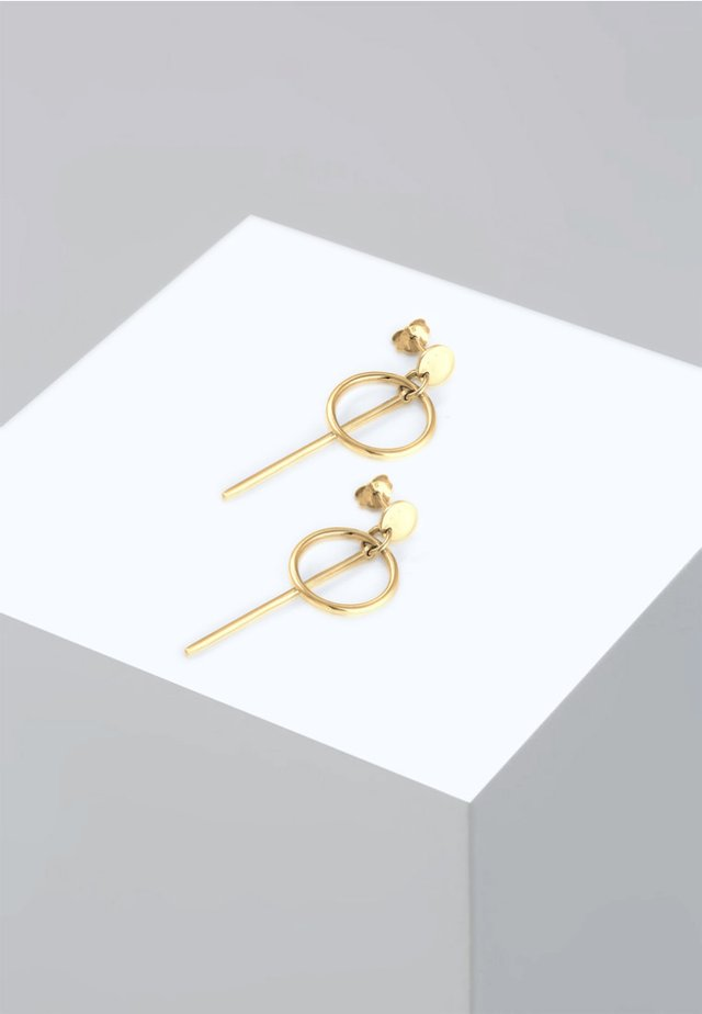 HÄNGER GEO  - Earrings - gold-coloured