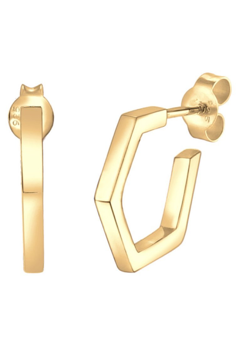 MinimalBoucles Geo D'oreilles coloured Elli Gold Hexagon Creole w0O8nXPk