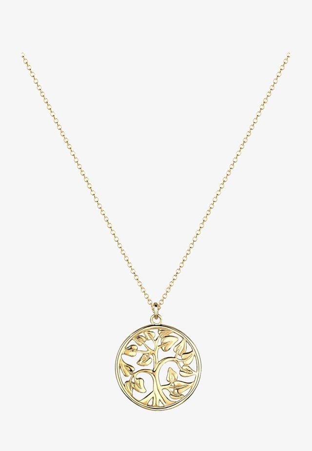 MÜNZE TREE OF LIFE LEBENSBAUM  - Halskette - gold-coloured