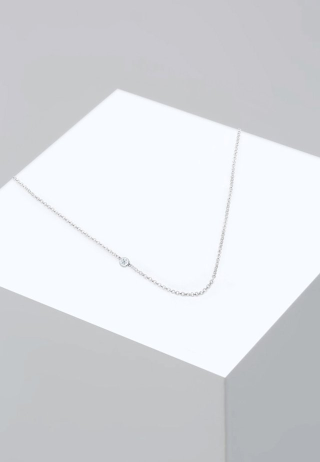 Necklace - white-coloured