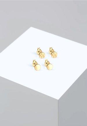 2 PACK BASIC GEHÄMMERT - Earrings - gold-coloured