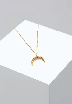SICHEL MOND BUNT SWAROVSKI® KRISTALLE  - Ketting - gold-coloured