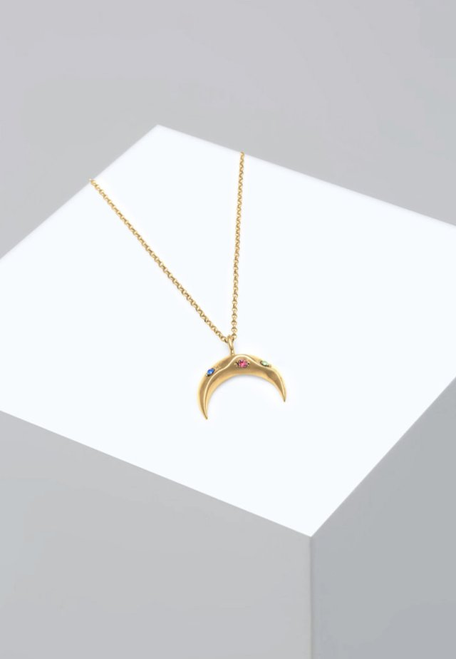 SICHEL MOND BUNT SWAROVSKI® KRISTALLE  - Necklace - gold-coloured