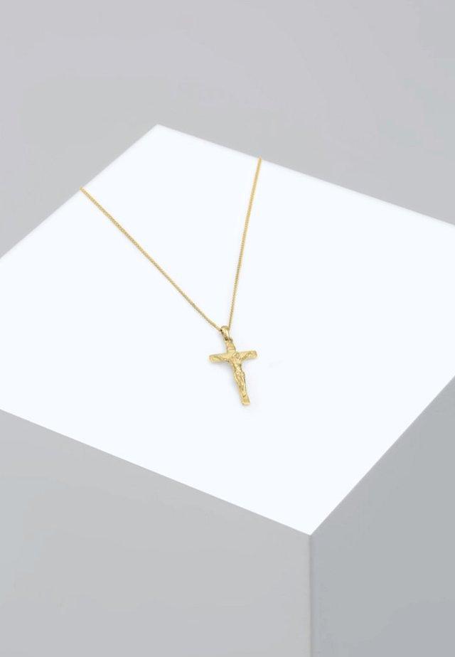 KREUZ KLASSISCH GLAUBE JESUS KOMMUNION  - Necklace - gold-coloured