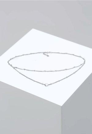 CHOKER LAYER LOOK HERZ TREND  - Kaulakoru - silver-colored