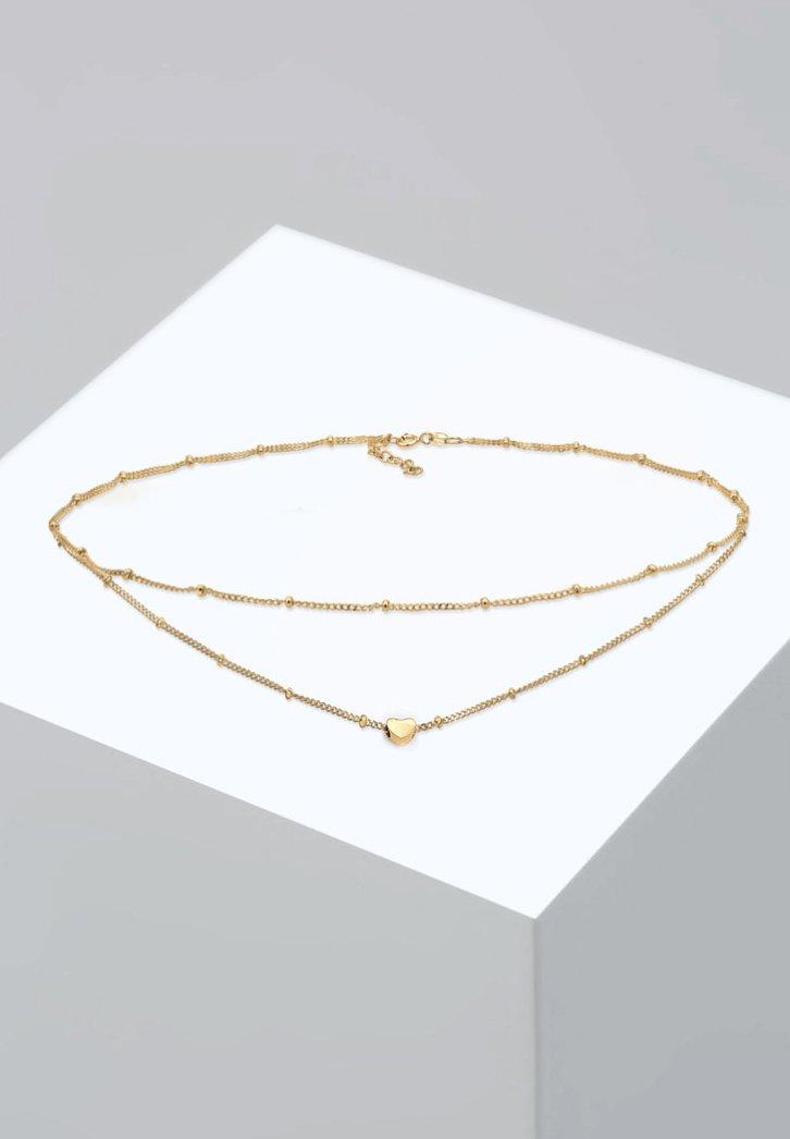 Elli - CHOKER LAYER LOOK HERZ TREND  - Collier - gold