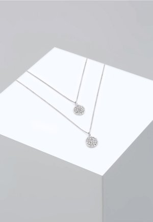 PANZERKETTE LAYER SWAROVSKI® KRISTALLE  - Collier - silver-coloured
