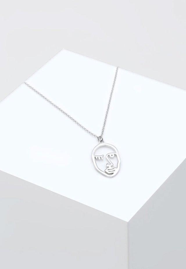ERBSKETTE TWINKLE FACE DESIGN ANHÄNGER  - Necklace - silver-coloured