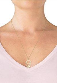 Elli - ERBSKETTE TWINKLE FACE DESIGN ANHÄNGER  - Halskette - gold-coloured - 1