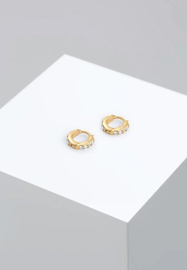 CREOLEN MINIMAL - Earrings - gold-coloured