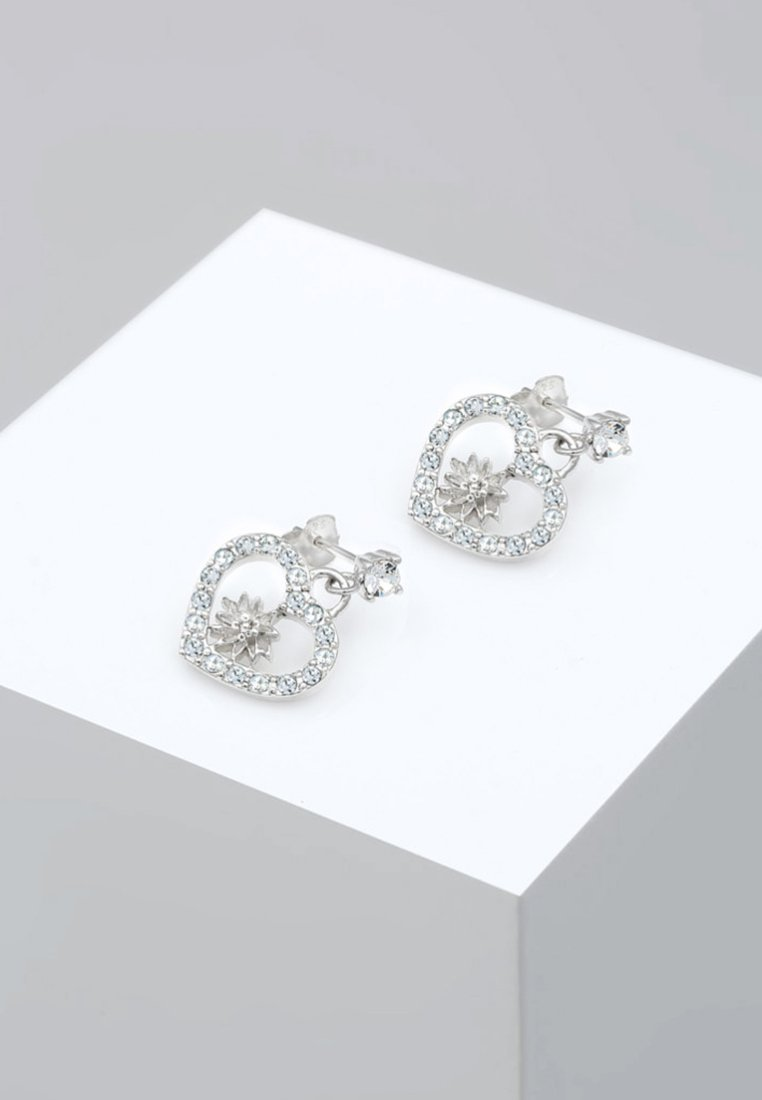 Elli Edelweiss SwarovskiBoucles D'oreilles coloured Herz Silver n0OPX8wk