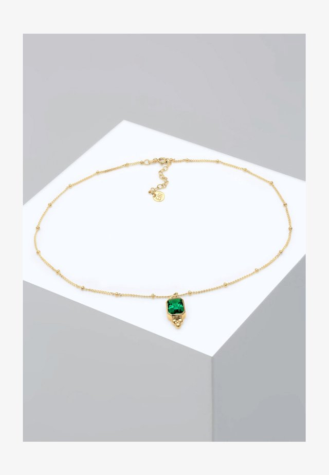 CHOKER  - Halskæder - gold-colored/green